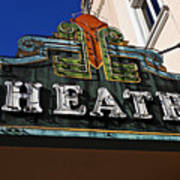 Old Movie Theatre Sign Poster by Garry Gay