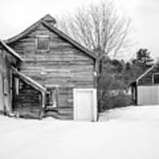 Old New England Barns In Winter Poster