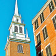 Old North Church Tower In  Boston-massachusetts Poster