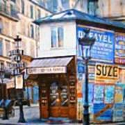 Old Paris Cafe Poster