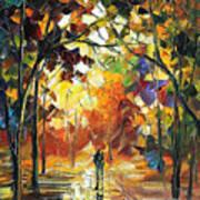 Old Park 3 - Palette Knife Oil Painting On Canvas By Leonid Afremov Poster