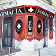 Old Pharmacy Poster by Tomas Castano