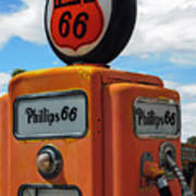 Old Phillips 66 Gas Pump Poster