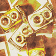 Old Photo Cameras Poster