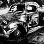 Old Pickup In Winter Poster