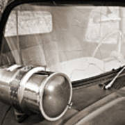 Old Police Car Siren Poster