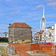 Old Portsmouth Flood Gates Poster