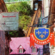 Old Quebec City Funicular Poster