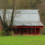 Old Red Barn In Jefferson County Poster