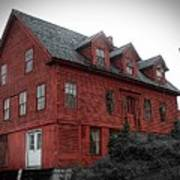 Old Red House In Shelburne Falls Poster