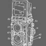 Old Rollie Vintage Camera White T-shirt Poster