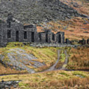 Old Ruin At Cwmorthin Poster