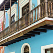 Old San Juan Houses In Historic Street In Puerto Rico Poster