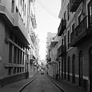 Old San Juan Puerto Rico Downtown On The Street Poster