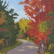Old Scoolhouse Road Fall - Art By Bill Tomsa Poster