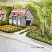 Old Scottish Stone Barn Poster