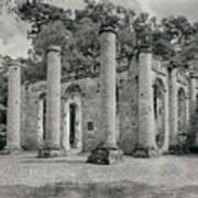 Old Sheldon Church Ruins, South Carolina Poster