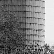 Old Silo Bw Poster