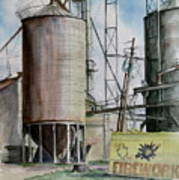 Old Silo Poster