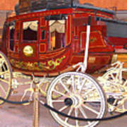 Old Stagecoach - Wells Fargo Inc. Poster