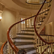 Old State House Spiral Staircase Poster