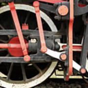 Old Steam Locomotive Wheels Poster