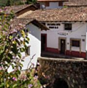 Old Stone Bridge In Historic Hillside Village Of San Sebastian D Poster