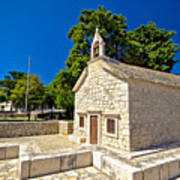 Old Stone Chapel In Primosten Poster