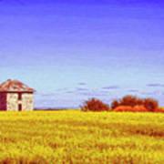 Old Stone Farmhouse Tuscany Poster