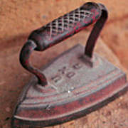 Old Stove Iron Poster