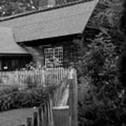 Old Sturbridge House In Black And White Poster