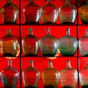 Old Tequila Jugs By Darian Day Poster