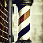 Old Time Barber Pole Poster