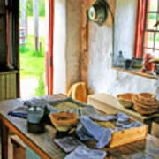 Old Time Kitchen At Old World Wisconsin Poster