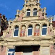 Old Town House Facade In Baden-baden Poster