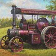 Old Traction Engine. Poster