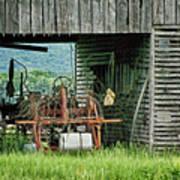 Old Tractor - Missouri - Barn Poster