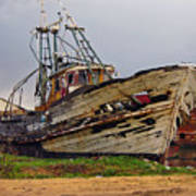 Old Trawler Poster
