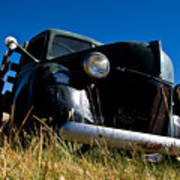Old Truck Low Perspective Poster