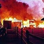 Old Tucson Arizona In Flames 1995  Poster