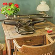 Old Underwood Typewriter Poster