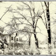 Old Victorian In Winter Poster
