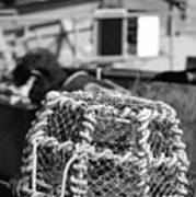 Old Vintage Hand Made Rope Lobster Pot Used In Fishing Industry Poster