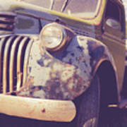 Old Vintage Pickup Truck Utah Square Poster