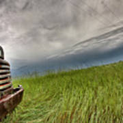 Old Vintage Truck On The Prairie Poster