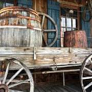 Old Wagon And Barrell Poster