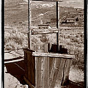 Old Well Bodie Ghost Twon California Poster