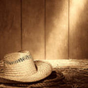 Old West Farmer Hat Poster