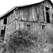 Old West Virginia Barn Black And White Poster
