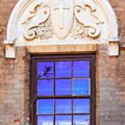 Old Window Mission San Buenaventura Poster